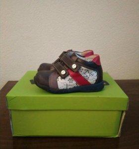 Кожа ботинки для мальчика 23р.