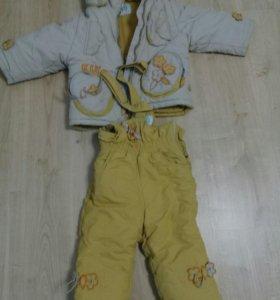 Зимняя куртка со штанами детская