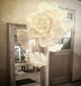 Огромные розы цветы  из экокожи