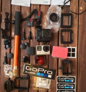 GoPro Hero 4 + подарки silver edition