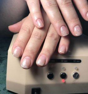 Маникюр шеллак, наращивание ногтей