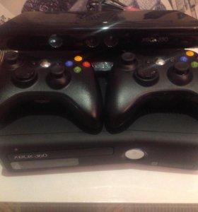 Xbox 360S+кинект+2джойстика hdd250