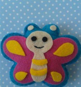Фетровая бабочка.