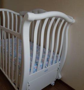 Детская кроватка маятник BabyItalia