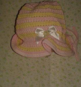 Демисезонные шапки для девочек.