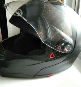 Мото Шлем GSB - 339 Black Matt модуляр