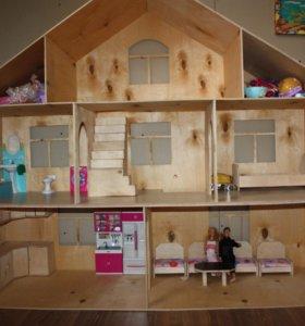 Домик для кукол или гараж для машинок
