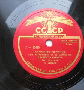 Изабелла Юрьева Весенняя песенка, Венгерская песня