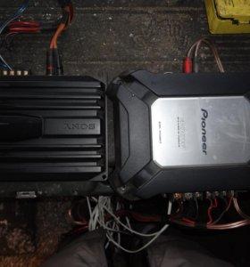 SONY XM-N502 и PIONER GM-3500T
