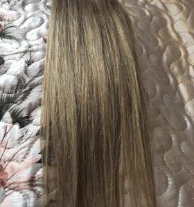 Волосы для наращивания 45см 100 прядей
