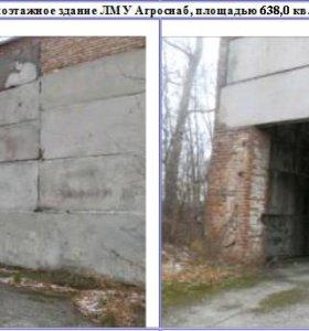 Гараж из бетонных плит на разбор