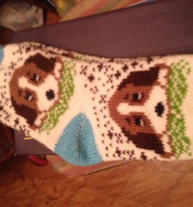 Тёплые вязаные носки с оригинальным рисунком!!!
