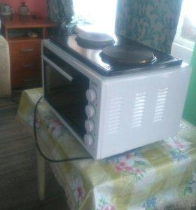 Электрическая мини-печь с двумя комфорками