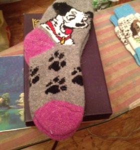 Тёплые шерстяные носки