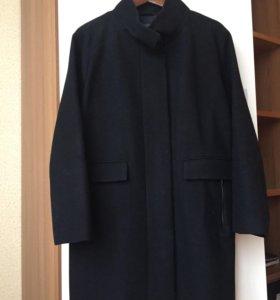 Чёрное пальто MANGO