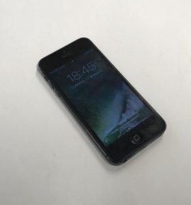 iPhone 5 чёрный с коробкой 16гб