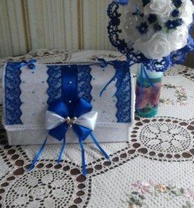 Свадебный букет и сундучок