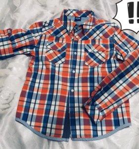 Рубашка на мальчика 7-9 лет примерно) 👔