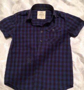 Рубашка 👕 на мальчика 7-8 лет примерно)