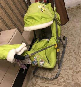 Детские санки с колёсами