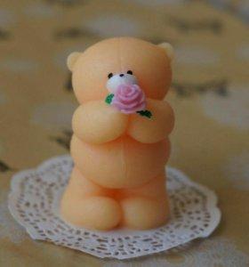 Мыло ручной работы в виде медведей
