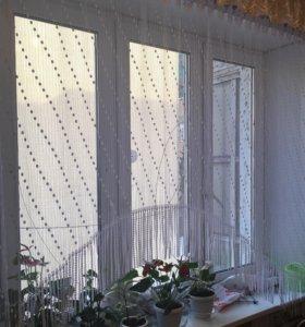 Белый Тюль на Окно (шторы)