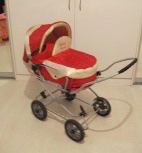 большая коляска с корзинкой для кукол ГГМ
