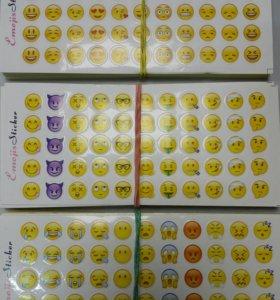 Наклейки смайлы Emoji
