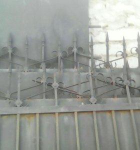 Забор металлический,крепкий