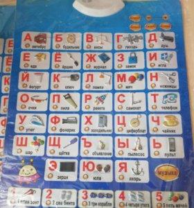 Знаток Звуковой плакат Говорящая азбука +музыка