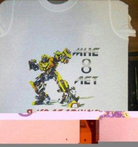 Печать на футболках методом шелкография