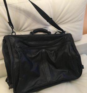 Кожаная сумка для перевозки костюмов