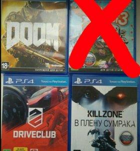 Sony ps 4 3 playstation doom killzone
