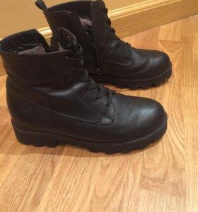 Ботинки зимние натуральная кожа 37 р