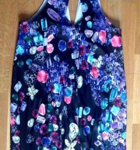 Платье с оригинальным принтом от ROBERTO CAVALLI