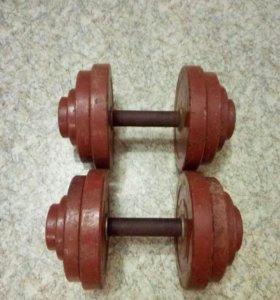 Гантели разборные по 25 кг