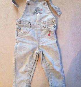 Комбинезон джинсовый детский на бретелях