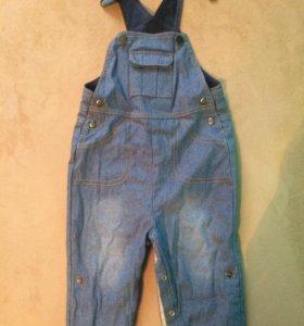 Комбинезон джинсовый детский н бретелях Mothercare