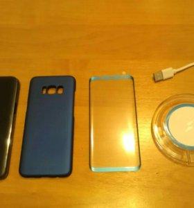 Оригинальный чехол SAMSUNG S8 бампер,стекло,заряд