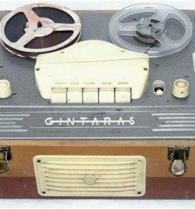 Магнитофон ламповый катушечный Gintaras, СССР
