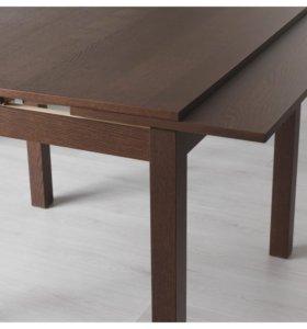 Обеденный раздвижной стол (ikea - бьюрста)