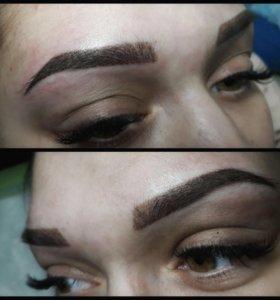 Перманентный макияж (татуаж) бровей