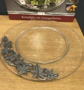 Хрустальная тарелка ARTINA.