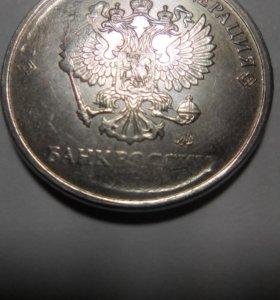 Монета 5 р брак