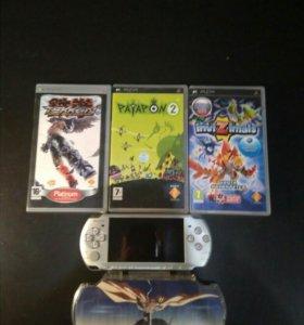 Игровая приставка PSP( Sony) + 3 игры