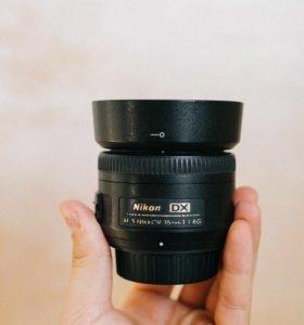 Объектив Nikkor 35mm f/1.8G AF-S DX