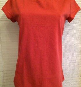 Новая женская футболка 💯 хлопок, цвет теракотовый