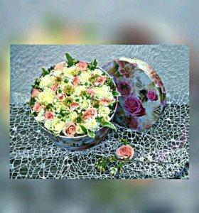 Цветы в коробке / Цветы с доставкой