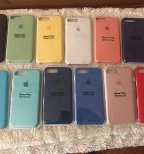 Silicone Case iPhone 7 / 8 / plus чехол