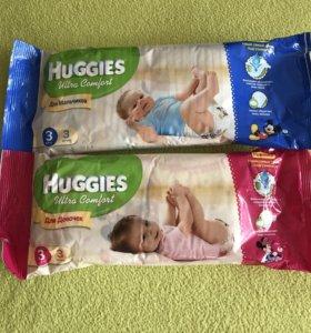 Памперсы Huggies 3 и 4